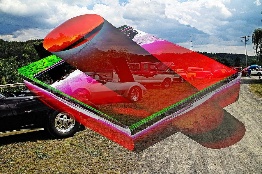 Car show with 3D cylinder boxes by Karl Rose