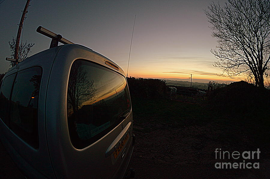 Car Photograph - Car Sunset by Andy Thompson