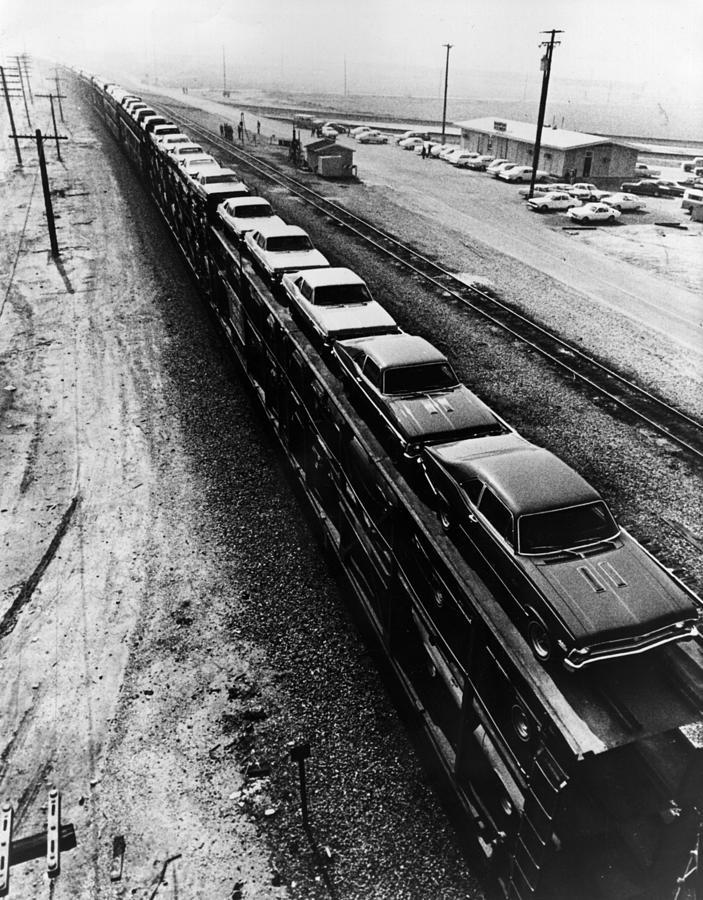 Car Train Photograph by Fox Photos