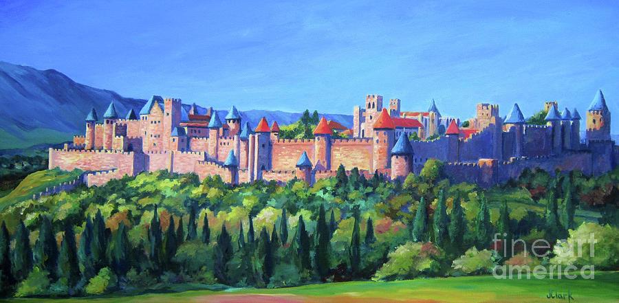 Carcassonne Painting - Carcassone   by John Clark