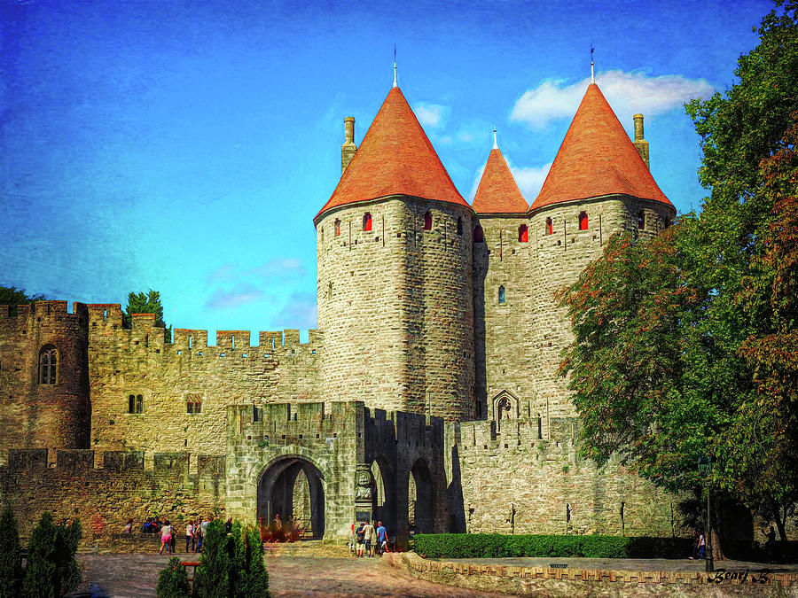 Carcassonne Gate by Bearj B Photo Art