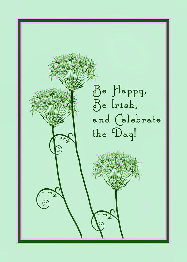 St. Patrick's Day Drawing - Card For St. Patricks Day by Rosalie Scanlon