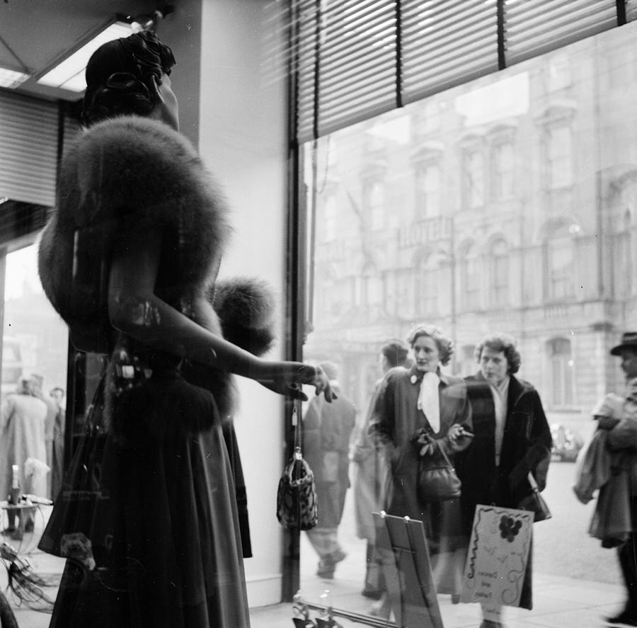 Cardiff Shopping Photograph by Bert Hardy