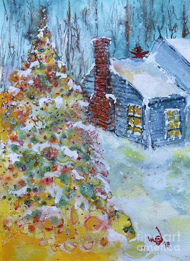Cardinal Christmas Painting by Glen Garnett