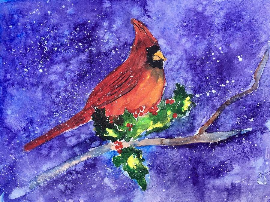 Cardinal Painting - Cardinal In Winter by Marita McVeigh