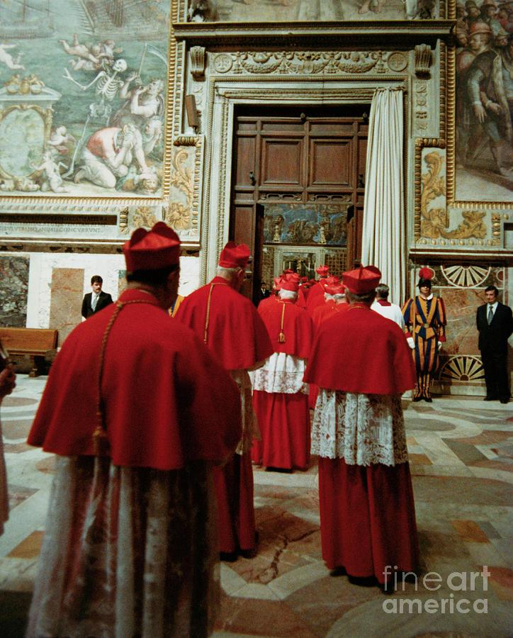 Cardinals Entering Sistine Chapel Photograph by Bettmann