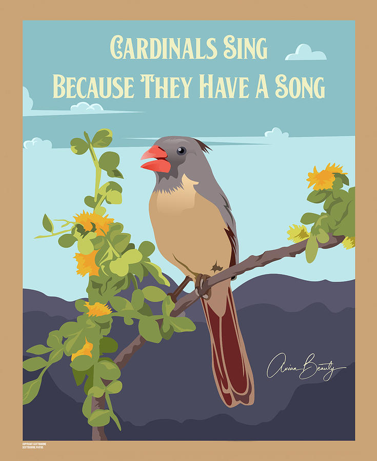 Cardinals Sing Because They Have A Song by Scott Bourne