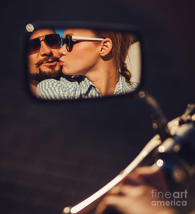 Heat Photograph - Carefree Young Couple In Sunglasses by Maksim Ladouski