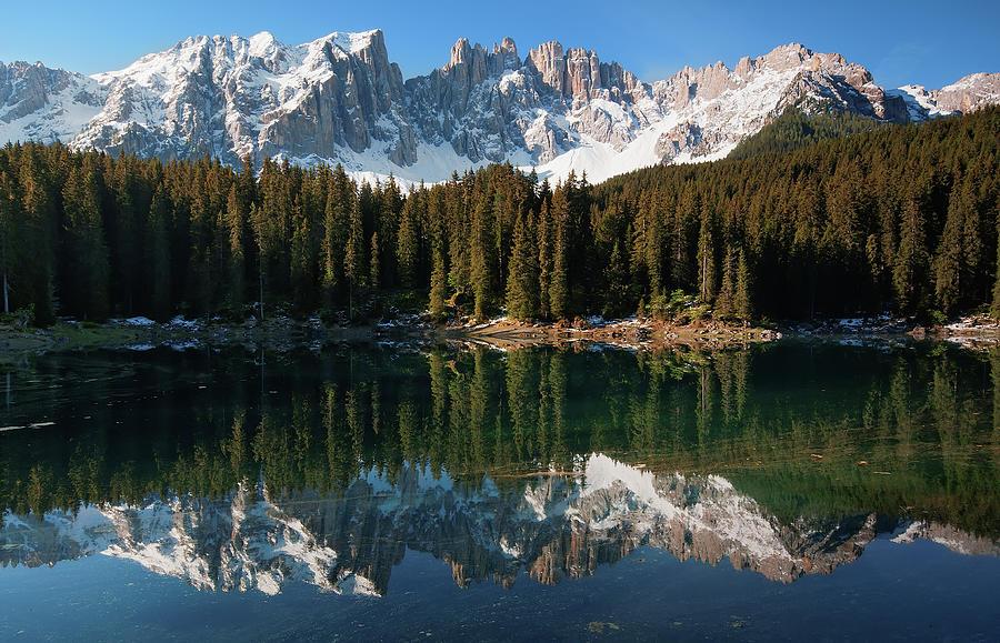 Carezza Lake Reflections Photograph by Photographer  Renzi Tommaso  Tommyre00@hotmail.it