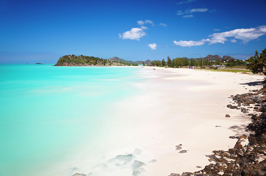 Caribbean Beach With Perfect Sky Photograph by Michaelutech