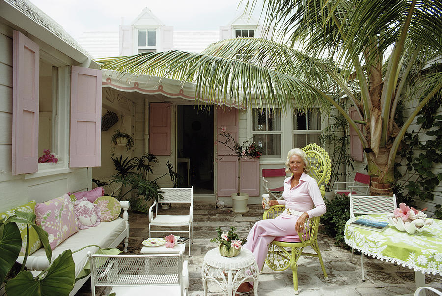 Caribbean Patio Photograph by Slim Aarons