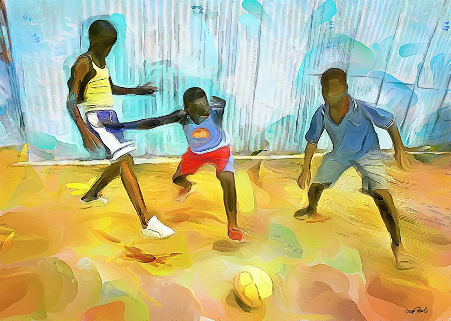 CARIBBEAN SCENES - Small Goal in De Backyard by Wayne Pascall