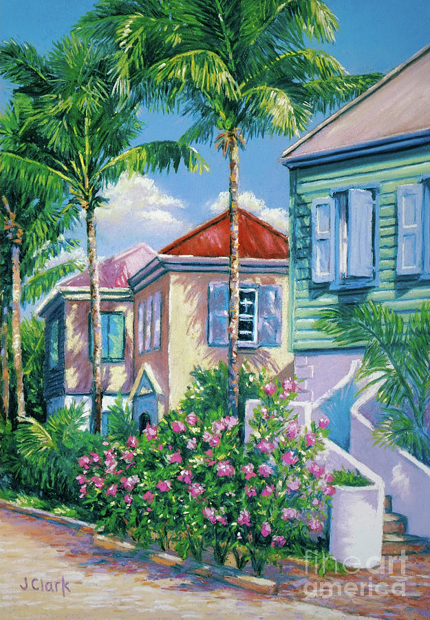 Caribbean Painting - Caribbean Style   9x13 by John Clark