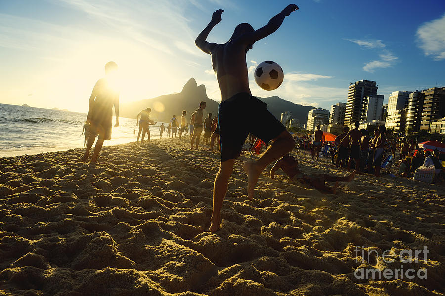 Game Photograph - Carioca Brazilians Playing Altinho by Lazyllama