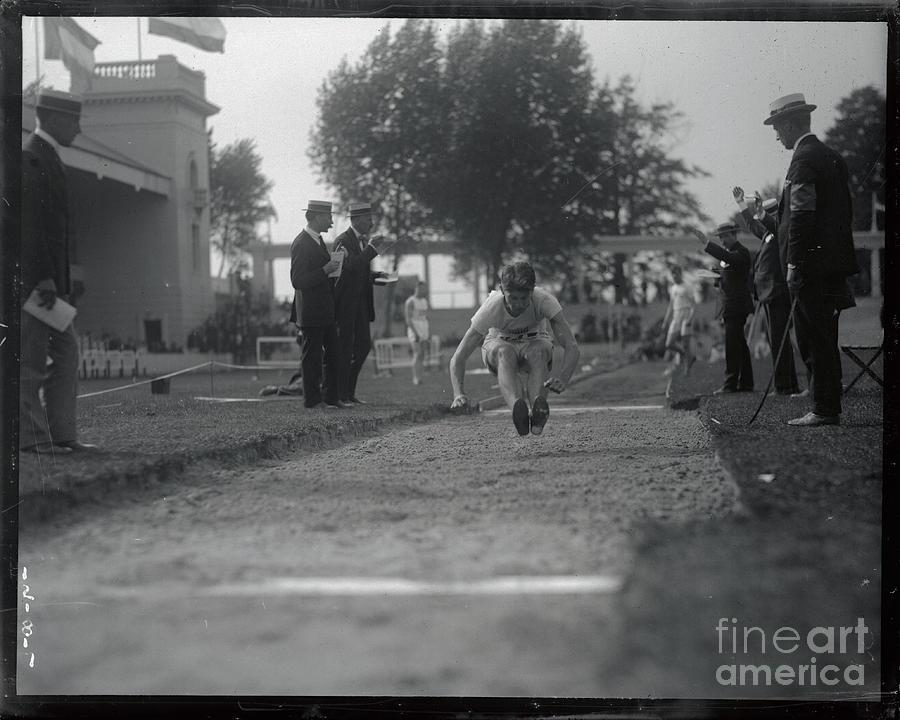 Carl Johnson Making His Jump In Olympic Photograph by Bettmann