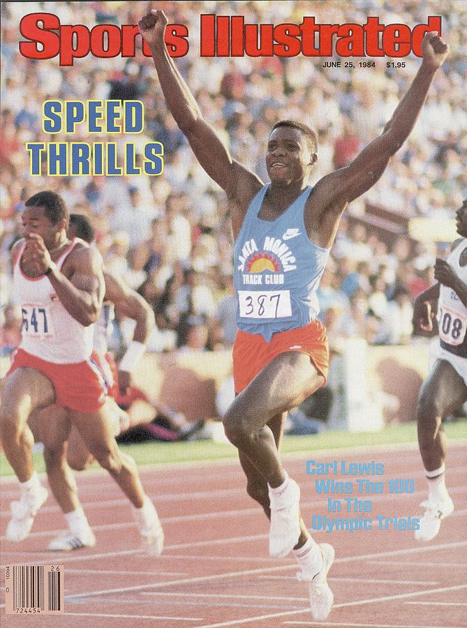 Carl Lewis, 1984 Us Olympic Track & Field Trials Sports Illustrated Cover Photograph by Sports Illustrated