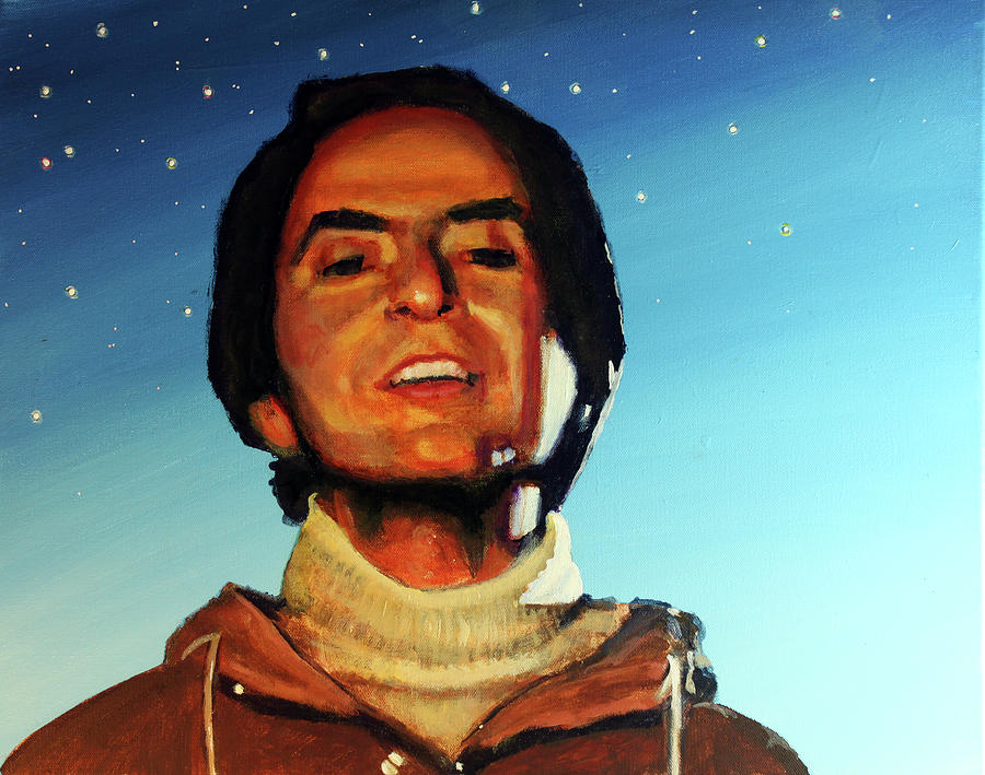 Carl Sagan Painting - Carl Sagan Cosmos by Simon Kregar