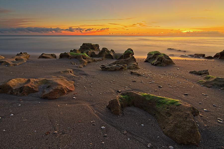 Carlin Park Beach Nautical Twilight by Steve DaPonte