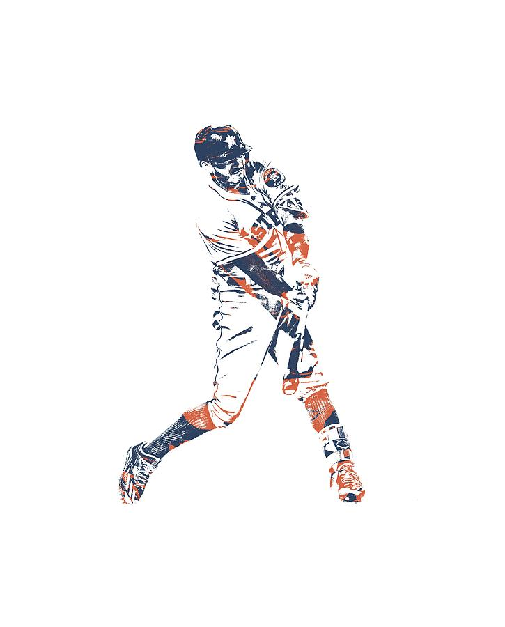 Carlos Correa Mixed Media - Carlos Correa Houston Astros Pixel Art Tshirt 1 by Joe Hamilton