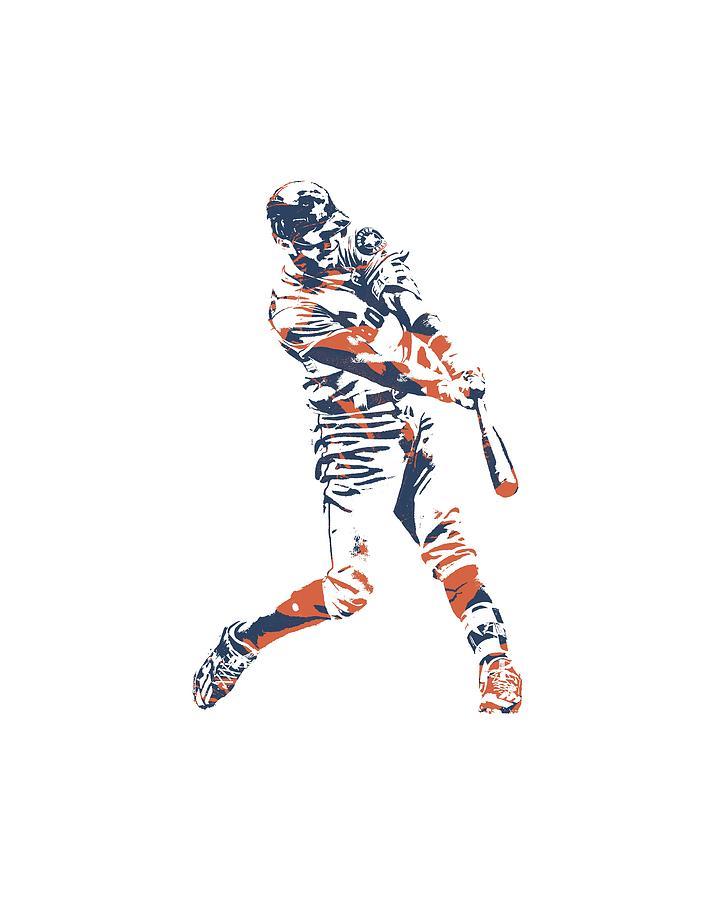 Carlos Correa Mixed Media - Carlos Correa Houston Astros Pixel Art Tshirt 3 by Joe Hamilton