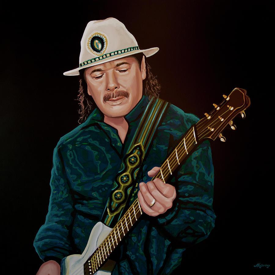 Carlos Santana Painting by Paul Meijering