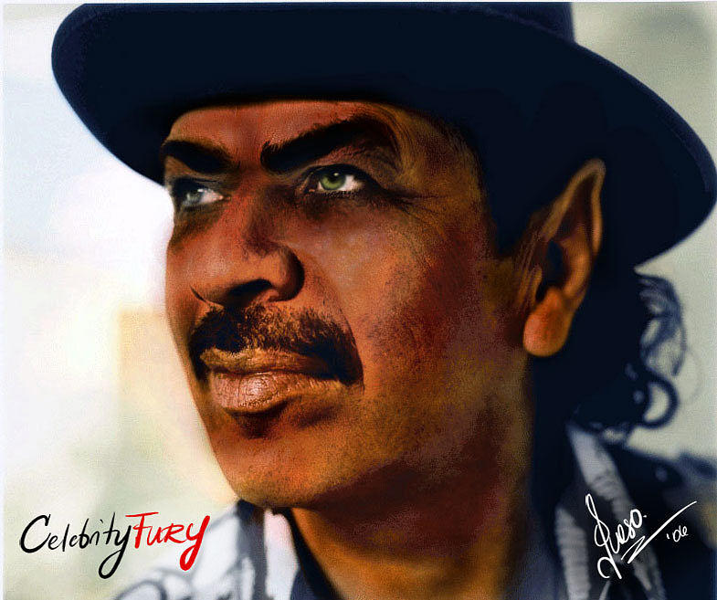 Carlos Santana Digital Art - Carlos Santana by Queso Espinosa