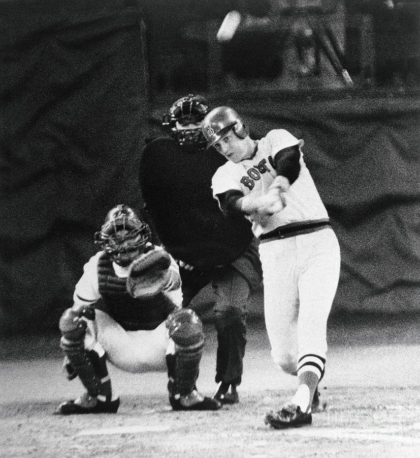 Carlton Fisk Swinging Baseball Bat Photograph by Bettmann