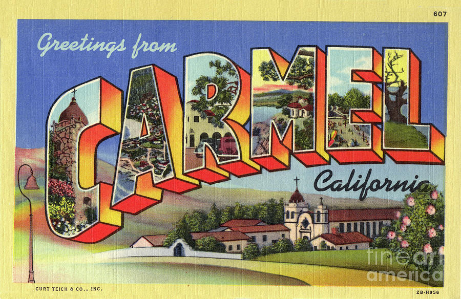 Carmel circa 1938 by California Views Archives Mr Pat Hathaway Archives