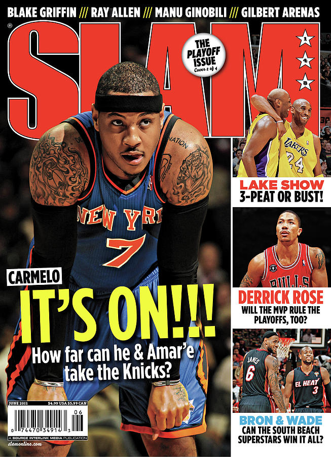 Carmelo: Its On!!! SLAM Cover Photograph by Getty Images