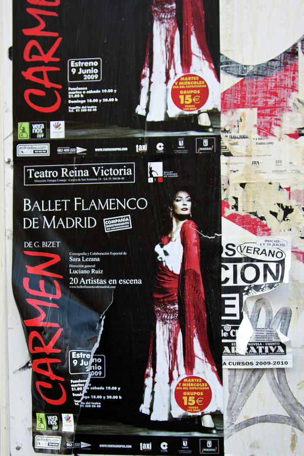 Carmen Ballet Flamenco De Madrid Poster by Tatiana Travelways