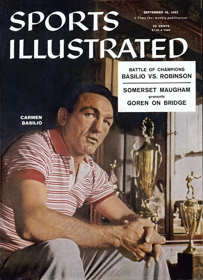 Carmen Basilio, Middleweight Boxing Sports Illustrated Cover Photograph by Sports Illustrated