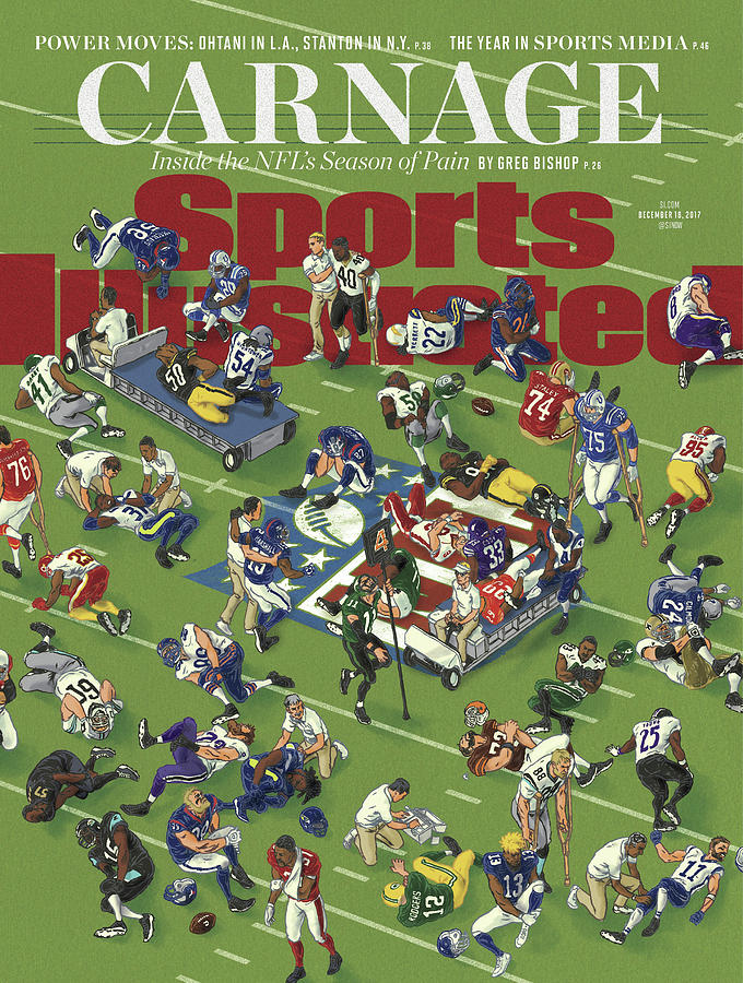 Carnage Inside The Nfls Season Of Pain Sports Illustrated Cover Photograph by Sports Illustrated