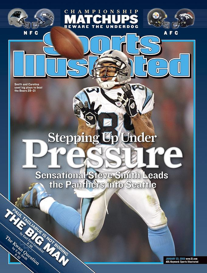Carolina Panthers Steve Smith, 2006 Nfc Divisional Playoffs Sports Illustrated Cover Photograph by Sports Illustrated