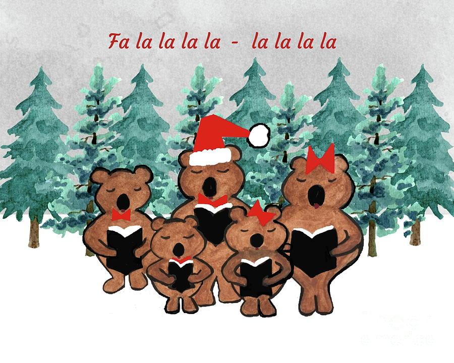 Caroling Bears by Marti Magna