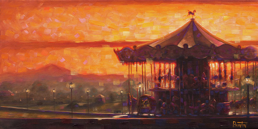Honfleur Painting - Carousel of Honfleur by Rob Buntin