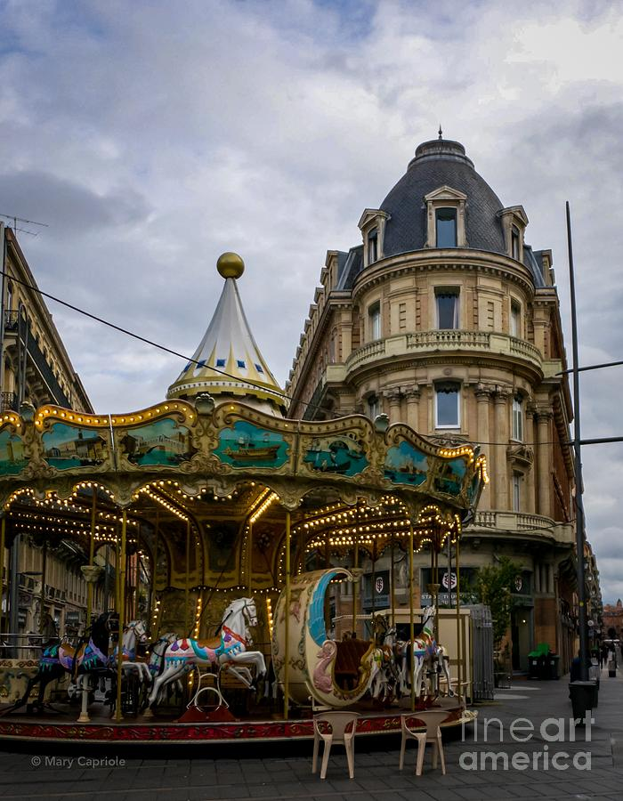 Carousel Toulouse  by Mary Capriole