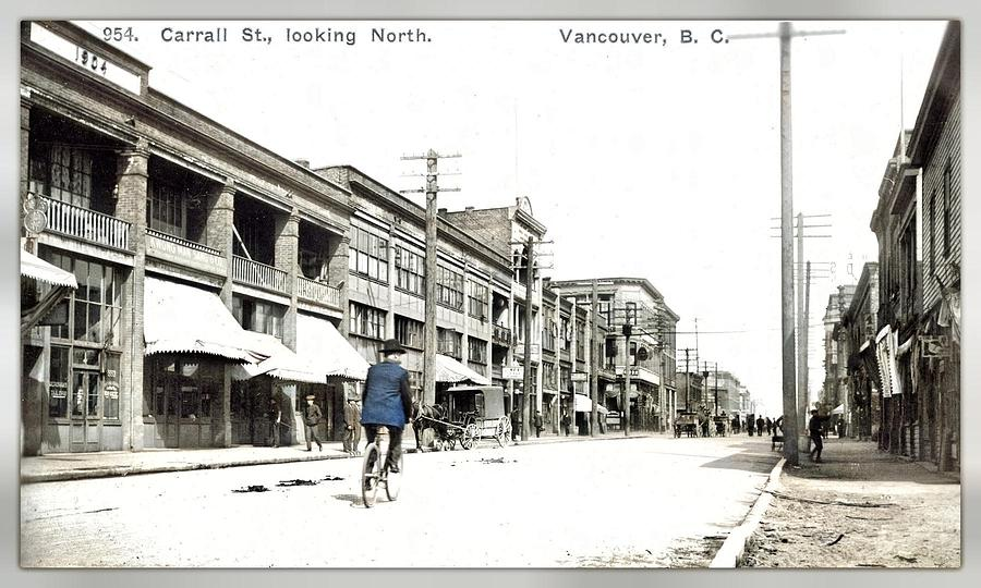 Carrall St., Looking North. Vancouver, B.c. Timms, Philip 1906 Colorized By Ahmet Asar Painting