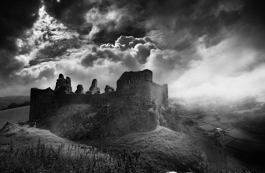 Castles Photograph - Carreg Cennen 3 by Phil Fitzsimmons