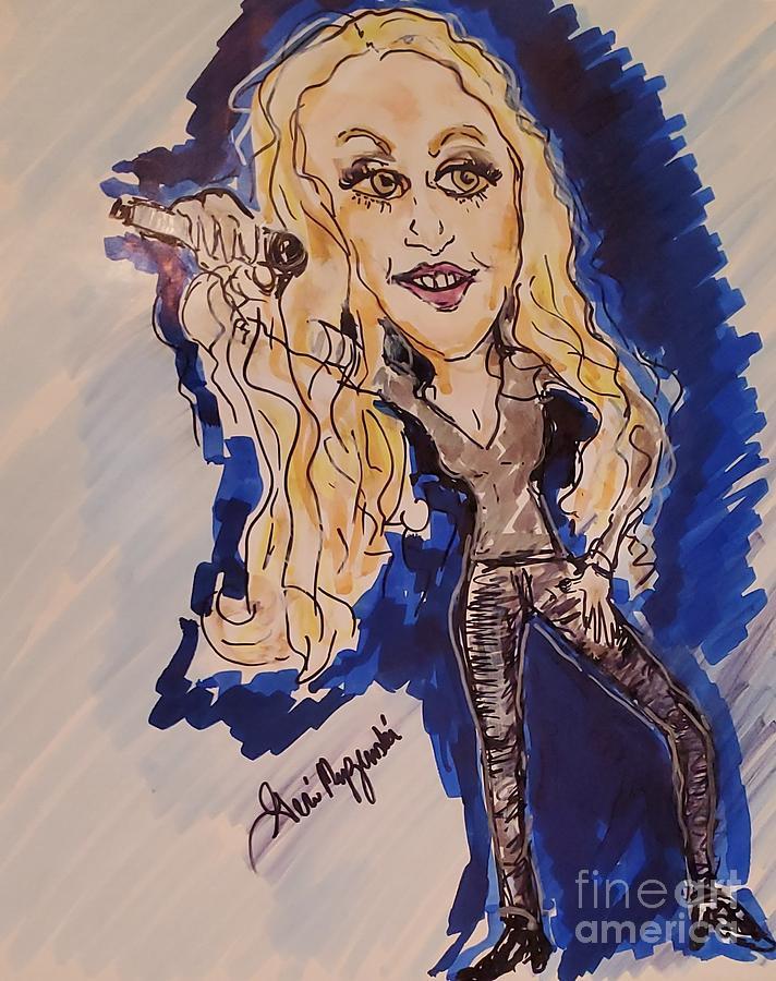 Carrie Underwood Painting - Carrie Underwood by Geraldine Myszenski