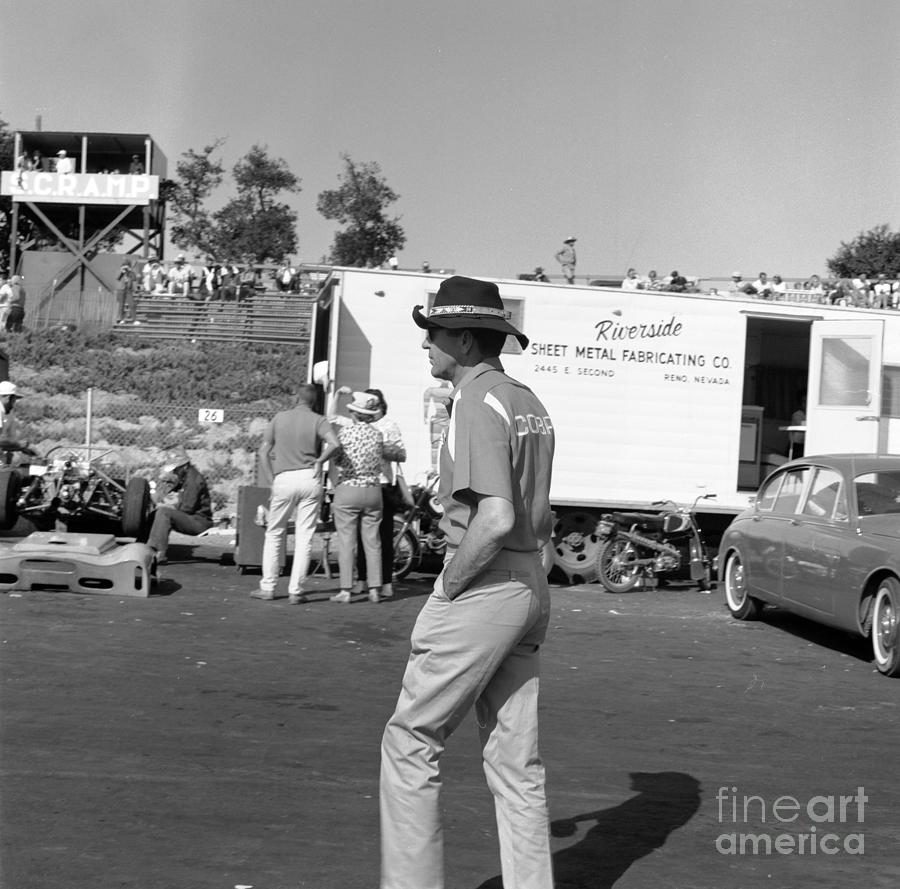 Carrol Shelby in pits by Robert K Blaisdell