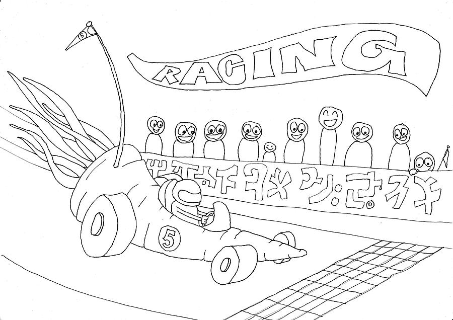 Carrot car racing by Thomas Olsen