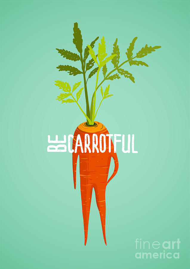 Symbol Digital Art - Carrot Diet Colorful Inspirational by Popmarleo