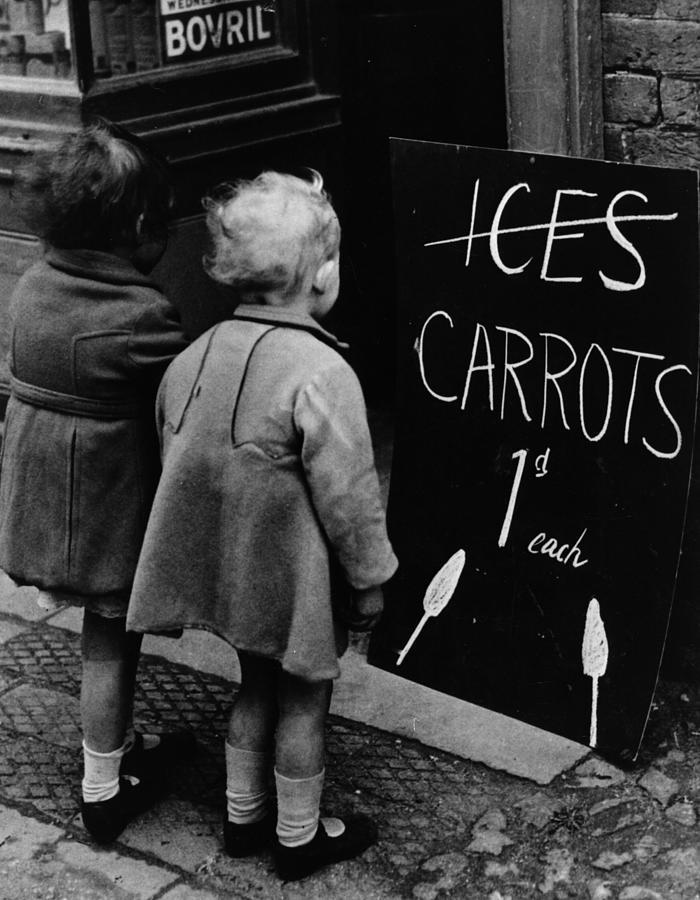 Carrot Lollies Photograph by Fox Photos
