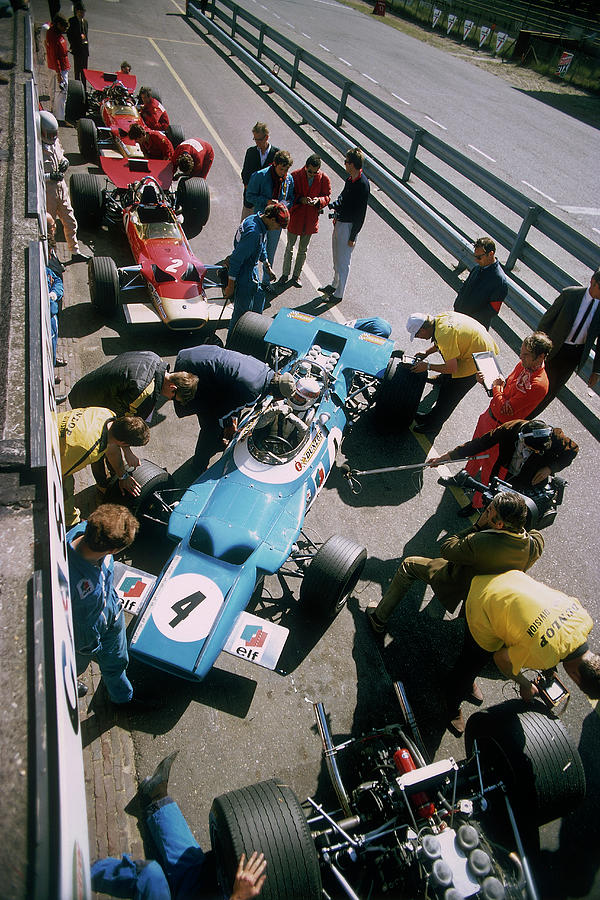 Cars At The British Grand Prix Photograph by Heritage Images