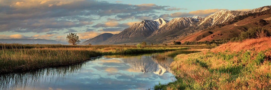 Carson Valley Sunrise Panorama by James Eddy