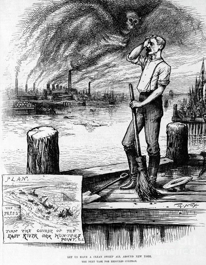Cartoon Of Air Pollution Engulfing City Photograph by Bettmann