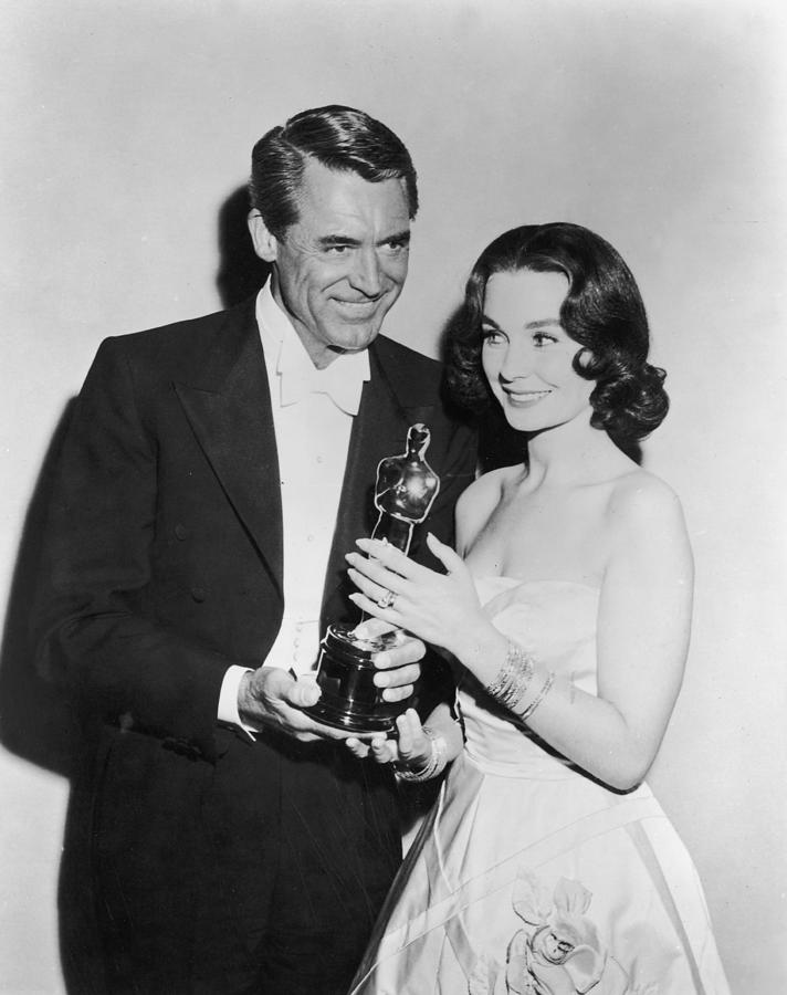 Cary Grant & Jean Simmons At Oscars Photograph by American Stock Archive