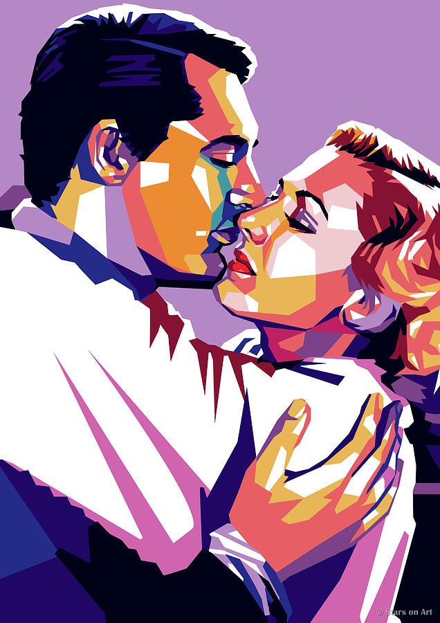 Cary Grant And Jean Arthur Digital Art