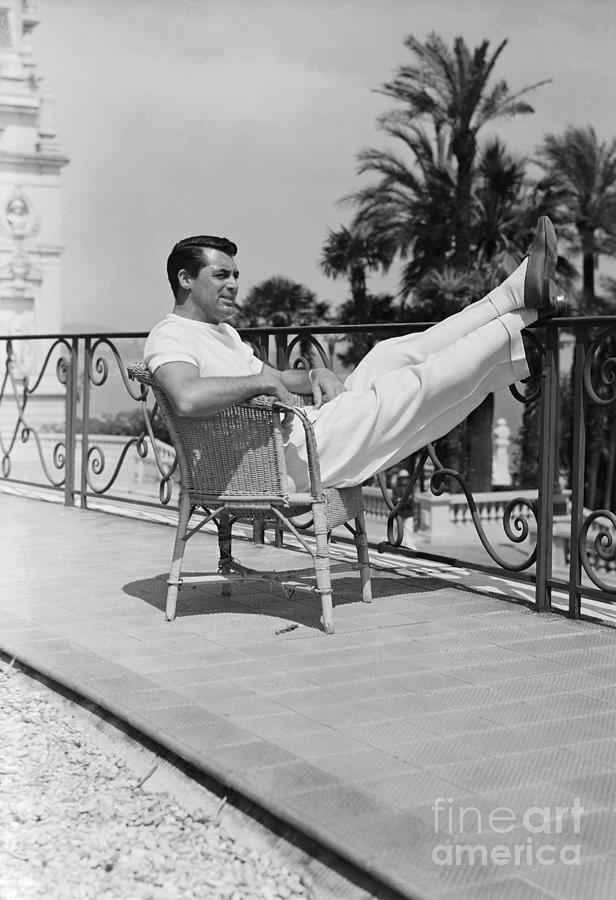 Cary Grant Relaxing In Monte-carlo Photograph by Bettmann