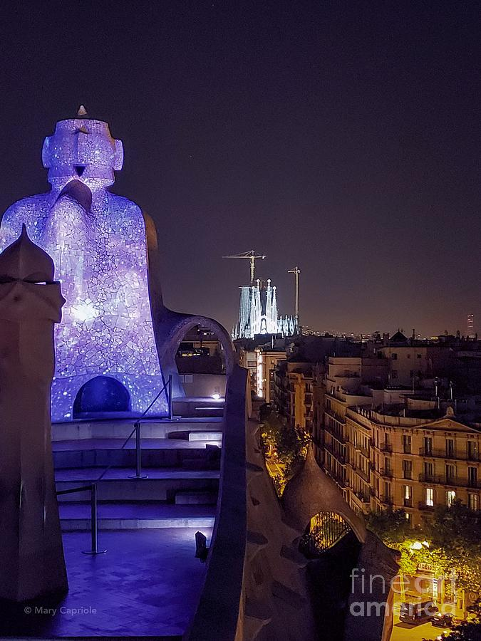 casa Mila roof top in color by Mary Capriole